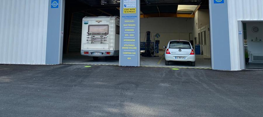 Stationnez facilement à votre arrivée au centre de contrôle technique d'Angers Orgemont