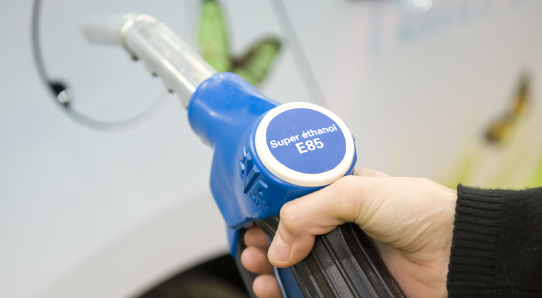 Pistolet station service e85 superéthanol