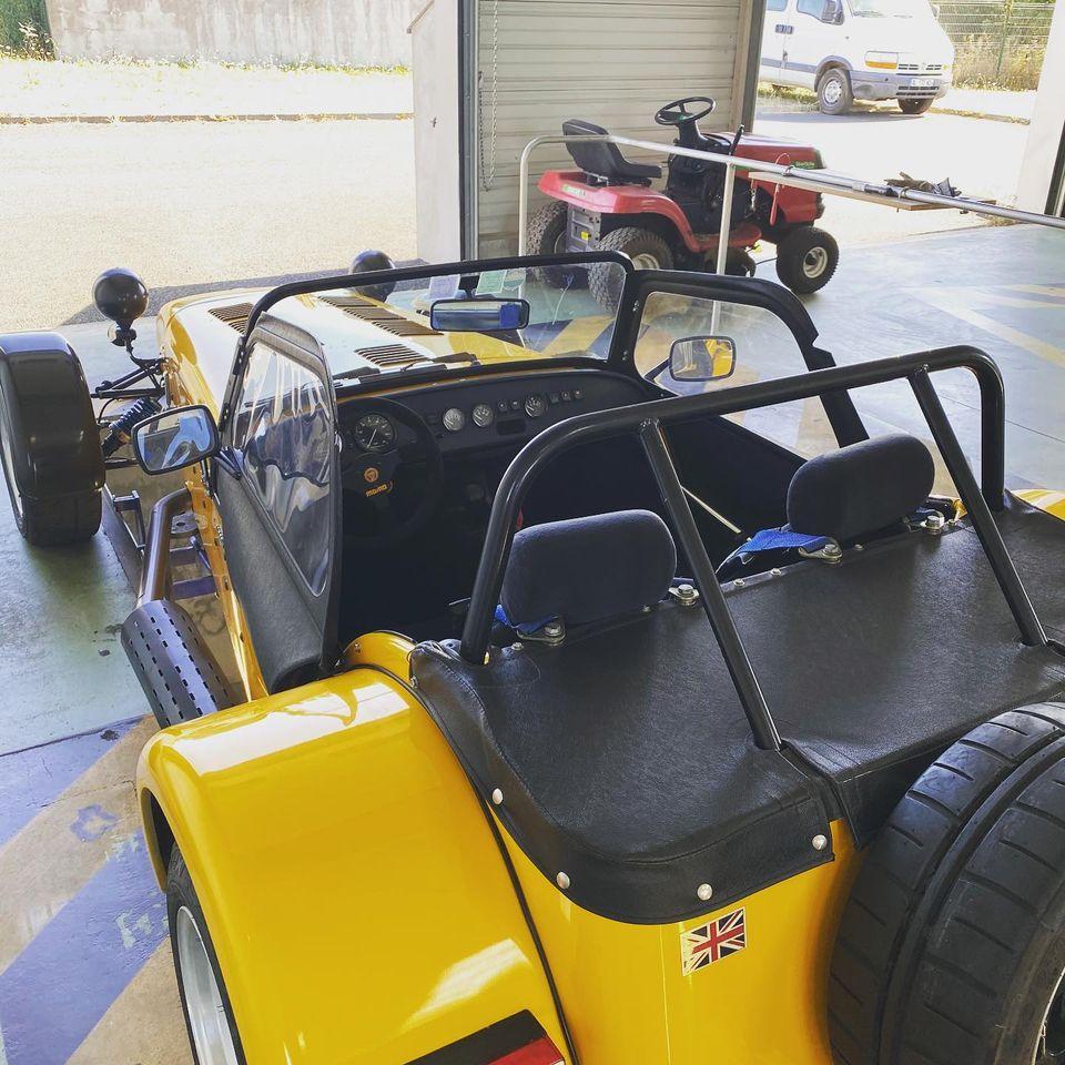 Lotus Seven Vue arrière contrôlée au Contrôle technique automobile, contrôle technique camping cars et contrôle technique utilitaires jusqu'à 3.5 T à La Pommeraye