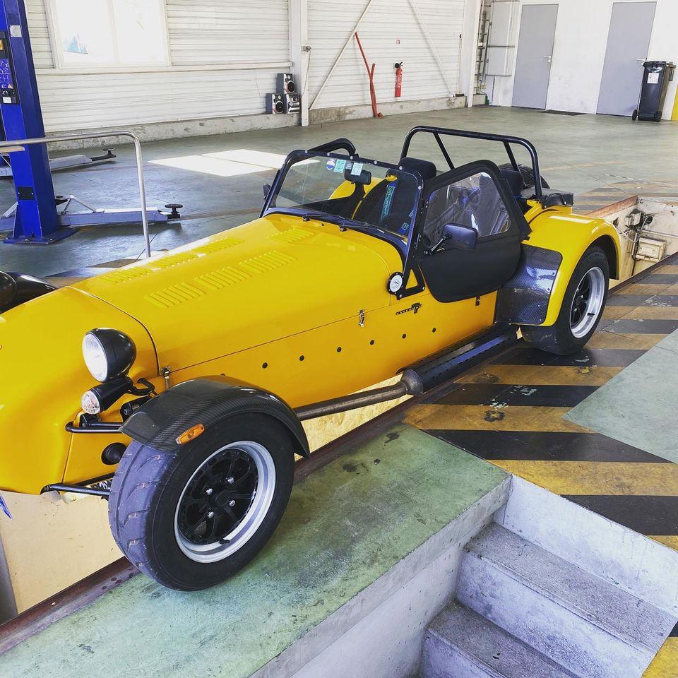 Lotus Seven Vue profil contrôlée au Contrôle technique automobile, contrôle technique camping cars et contrôle technique utilitaires jusqu'à 3.5 T à La Pommeraye